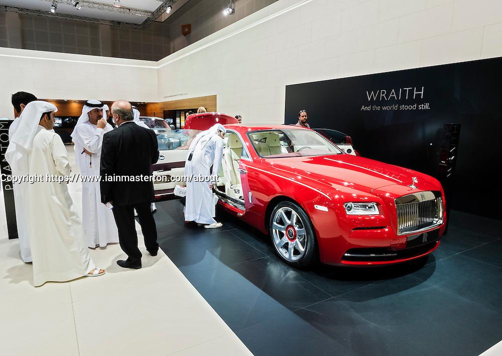 Rolls Royce Wraith  the Dubai Motor Show 2013 United Arab Emirates