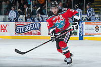 KELOWNA, CANADA - DECEMBER 7: Myles Bell #29 of the Kelowna Rockets skates against the Kootenay Ice on December 7, 2013 at Prospera Place in Kelowna, British Columbia, Canada.   (Photo by Marissa Baecker/Shoot the Breeze)  ***  Local Caption  ***