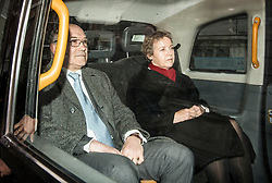 © Licensed to London News Pictures. 12/02/2018. London, UK. Oxfam CEO, Mark Goldring and Caroline Thomson, chair of Oxfam, leave the Department for International Development following a meeting with Secretary of State for International Development Penny Mordaunt to discuss claims of sexual misconduct by its aid workers. Mordaunt wants to hear more from Oxfam about allegations its staff used prostitutes in Haiti in 2011. Photo credit: Ben Cawthra/LNP