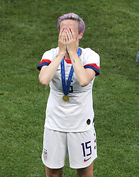 USA's Megan Rapinoe celebrates after winning the FIFA Women's World Cup 2019