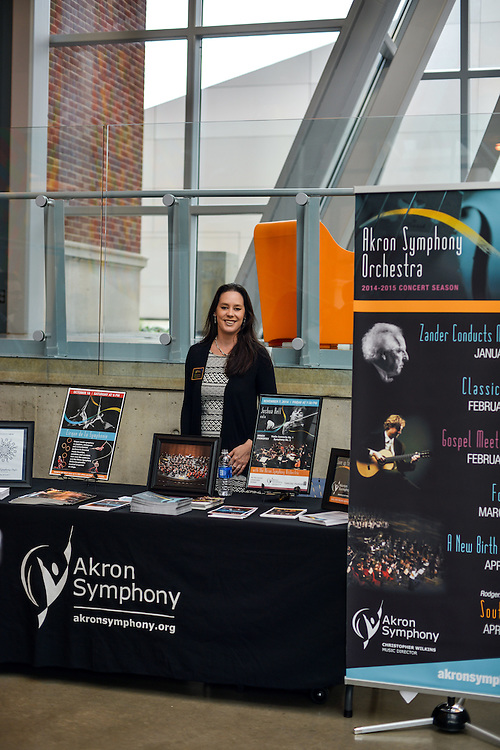 Akron Symphony at the connect2akron networking event at The Akron Art Museum.