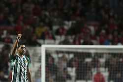 February 3, 2018 - Lisbon, Portugal - Rio Ave's midfielder Joao Novais celebrates after scoring during the Portuguese League  football match between SL Benfica and Rio Ave FC at Luz  Stadium in Lisbon on February 3, 2018. (Credit Image: © Carlos Costa/NurPhoto via ZUMA Press)