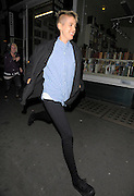22.SEPTEMBER.2010. LONDON<br /> <br /> AGYNESS DEYN LEAVING PENTHOUSE NIGHT CLUB IN LEICESTER SQUARE AFTER ATTENDING A PARTY FOR W HOTEL JAMES SMALL WITH A FRIENDS AND HEADED STRAIGHT FOR McDONALDS WHERE SHE ATE A HAPPY MEAL AND THEN DECIDED TO RUN FROM LEICESTER SQUARE TO BUNGALO 8.<br /> <br /> BYLINE: EDBIMAGEARCHIVE.COM<br /> <br /> *THIS IMAGE IS STRICTLY FOR UK NEWSPAPERS AND MAGAZINES ONLY*<br /> *FOR WORLD WIDE SALES AND WEB USE PLEASE CONTACT EDBIMAGEARCHIVE - 0208 954 5968*