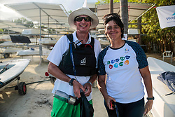 World Sailing Emerging Nations Program - Boca Chica Sailing Club, Santo Domingo 08/19/2017 - DAY 1- Tim Cross and Irina Pérez, president in the Dominican Sailing Federation