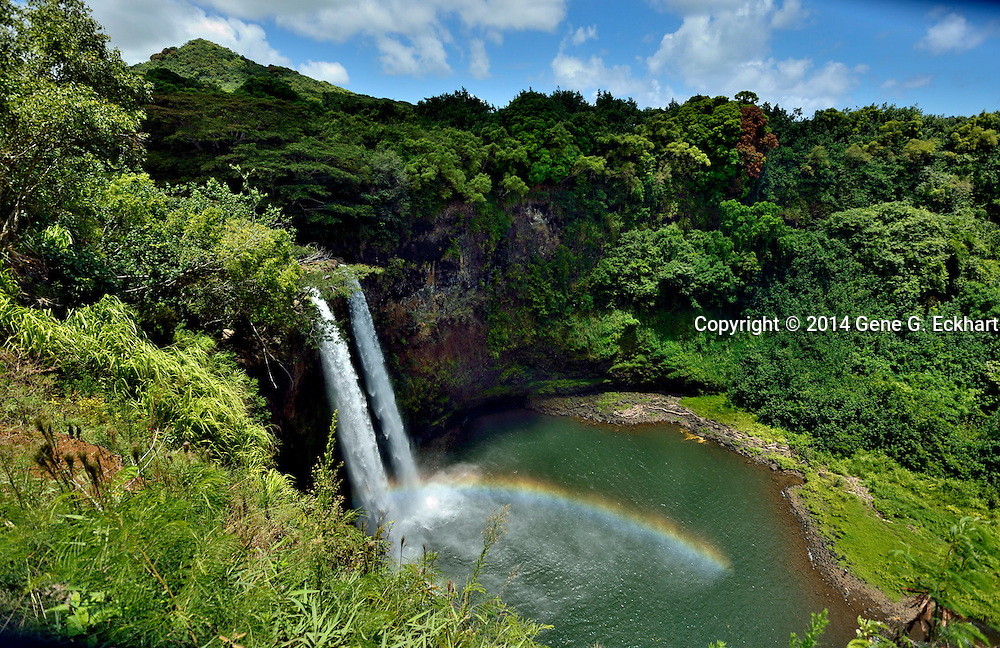 This photo of Wailua Falls was taken on the eastern side of the island of Kauai.