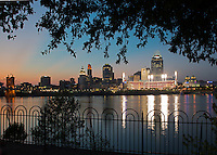 Cincinnati Skyline at Twilight taken from Covington, Kentucky