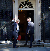 Cabinet meeting arrivals <br /> Downing Street, London, Great Britain <br /> 19th July 2016 <br /> <br /> New members of the Cabinet <br /> arriving ahead of the first cabinet meeting chaired by Theresa May <br /> <br /> Boris Johnson<br /> Foreign<br /> <br /> <br /> Photograph by Elliott Franks <br /> Image licensed to Elliott Franks Photography Services
