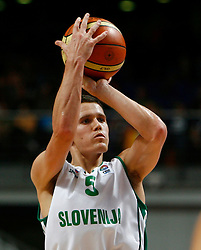 Basketball player Jaka Lakovic of Slovenia. (Photo by Vid Ponikvar/Sportida)