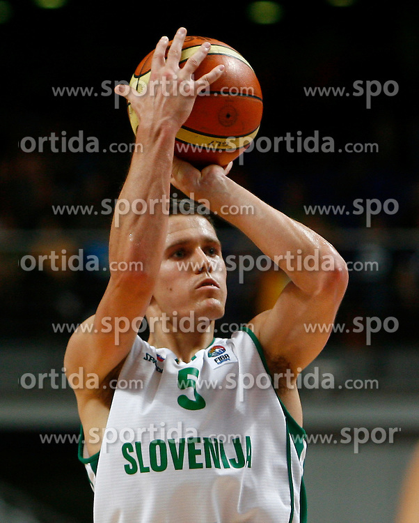 Basketball player Jaka Lakovic of Slovenia. (Photo by Vid Ponikvar/Sportida)