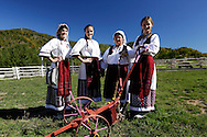 Women's choir from folkloric group 'Hrvatska Sloga', near the<br /> Vrabas River and Vranica mountain, Bosnia and Herzegovina.