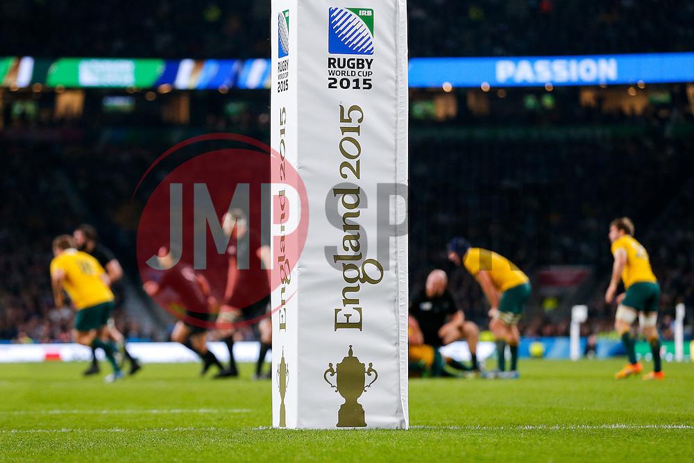 England 2015 World Cup Final post pad - Mandatory byline: Rogan Thomson/JMP - 07966 386802 - 31/10/2015 - RUGBY UNION - Twickenham Stadium - London, England - New Zealand v Australia - Rugby World Cup 2015 FINAL.