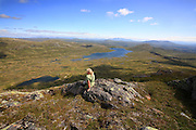 View from the mountain Fongen in the Skarvene and Roltdalen national park, Mid-Norway.