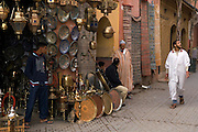 Inside the copper souq, Marrakesh, Morocco
