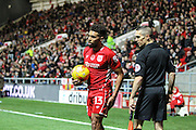 Scott Golbourne of Bristol City during the EFL Sky Bet Championship match between Bristol City and Brighton and Hove Albion at Ashton Gate, Bristol, England on 5 November 2016. Photo by Andrew Lewis.