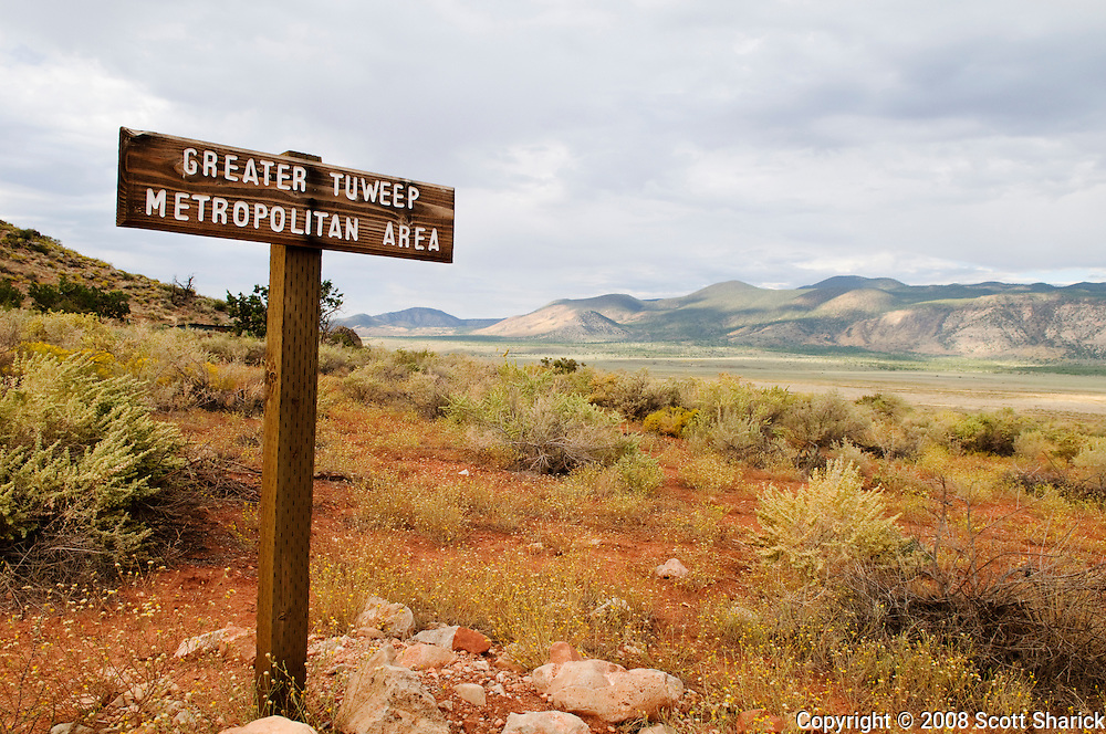 A sign identifying the Greater Tuweep Metropolitan Area at the Grand Canyon. Missoula Photographer