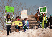 Residents of Connecticut gather for an anti gun rally in front of the capitol building in downtown Hartford, CT. on February 14, 2012. Spot News, General News images for Newspapers by Photojournalist Pablo Robles.