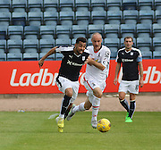 Dundee's Kane Hemmings and Inverness&rsquo; David Raven  - Dundee v Inverness Caledonian Thistle in the Ladbrokes Premiership at Dens Park<br /> <br />  - &copy; David Young - www.davidyoungphoto.co.uk - email: davidyoungphoto@gmail.com