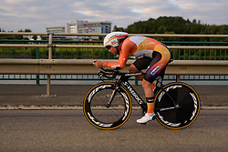 Chantal Blaak (Boels Dolmans) races toward the setting sun at Thüringen Rundfarht 2016 - Stage 4 a 19km time trial starting and finishing in Zeulenroda Triebes, Germany on 18th July 2016.