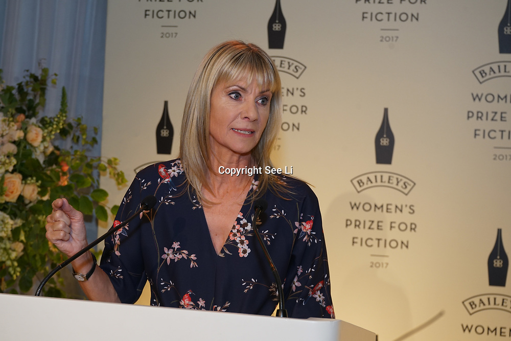 London,UK. 7th June 2017. Kate Mosse attends a photocall The Baileys Prize for Women's Fiction Awards 2017 at the The Royal Festival Hall, Southbank Centre. by See Li