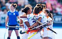 Londen - India heeft gescoord tijdens de cross over wedstrijd India-Italie (3-0) bij het WK Hockey 2018 in Londen . In  COPYRIGHT KOEN SUYK