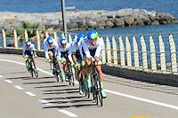 Equipe Orica GreenEdge - 09.05.2015 - 1er etape du Giro 2015<br />Photo : Sirotti / Icon Sport