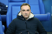 Sheffield Wednesday head coach Carlos Carvalhal  during the Sky Bet Championship match between Sheffield Wednesday and Milton Keynes Dons at Hillsborough, Sheffield, England on 19 April 2016. Photo by Simon Davies.