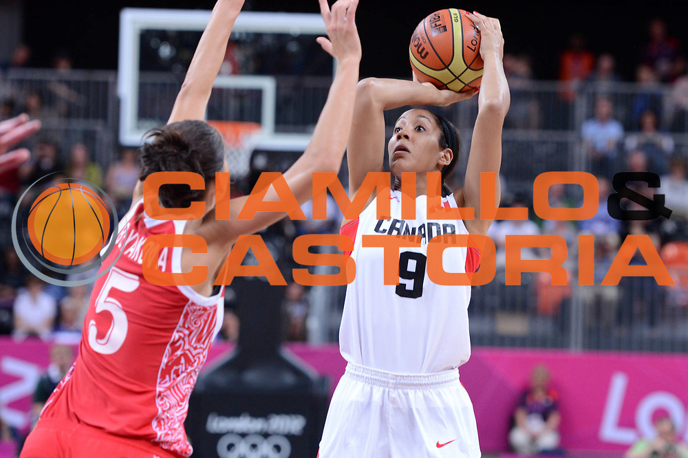 DESCRIZIONE : London Londra Olympic Games Olimpiadi 2012 Women Preliminary Round Canada Russia<br /> GIOCATORE : Miranda Ayim<br /> CATEGORIA : Tiro<br /> SQUADRA : Canada<br /> EVENTO : Olympic Games Olimpiadi 2012<br /> GARA : Canada Russia<br /> DATA : 28/07/2012 <br /> SPORT : Pallacanestro <br /> AUTORE : Agenzia Ciamillo-Castoria/GiulioCiamillo<br /> Galleria : London Londra Olympic Games Olimpiadi 2012 <br /> Fotonotizia : London Londra Olympic Games Olimpiadi 2012 Women Preliminary Round Canada Russia<br /> Predefinita :