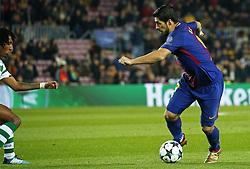 December 5, 2017 - Barcelona, Catalonia, Spain - Luis Suarez during the UEFA Champions League match between FC Barcelona v Sporting CP, in Barcelona, on December 05, 2017. (Credit Image: © Joan Valls/NurPhoto via ZUMA Press)