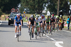 Carmen Small (USA) of Cylance Pro Cycling rides in the middle of the leading group in the penultimate lap of the 121.5 km road race of the UCI Women's World Tour's 2016 Grand Prix Plouay women's road cycling race on August 27, 2016 in Plouay, France. (Photo by Balint Hamvas/Velofocus)