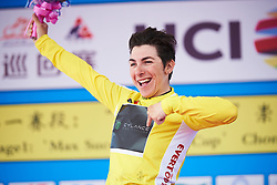 Giorgia Bronzini (ITA) is the race leader after Tour of Chongming Island 2018 - Stage 1, a 111.5km road race on Chongming Island on April 26, 2018. Photo by Sean Robinson/Velofocus.com