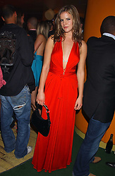 KATE SUMNER at a fashion show by ISSA held at Cocoon, 65 Regent Street, London on 21st September 2005.<br />