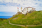 Lobster Cove Head Lighthouse in Rocky Harbour<br /> Gros Morne National Park<br /> Newfoundland <br /> Canada