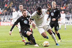 (L-R) Lasse Nielsen of Malmo FF, Cyle Christopher Larin of Besiktas JK during the UEFA Europa League group I match between between Besiktas AS and Malmo FF at the Besiktas Park on December 13, 2018 in Istanbul, Turkey