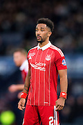 Aberdeen defender Shaleum Logan (#2) looks during the Scottish Cup final match between Aberdeen and Celtic at Hampden Park, Glasgow, United Kingdom on 27 November 2016. Photo by Craig Doyle.