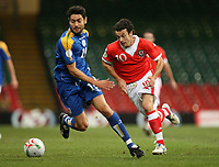 Photo: Rich Eaton.<br /> <br /> Wales v Cyprus. UEFA European Championships 2008 Qualifying. 11/10/2006. Simon Davies of Wales right