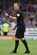 Referee Ross Joyce during the EFL Sky Bet League 1 match between Burton Albion and Ipswich Town at the Pirelli Stadium, Burton upon Trent, England on 3 August 2019.