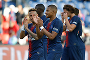 Neymar da Silva Santos Junior - Neymar Jr (PSG) had a jlook to Kylian Mbappe (PSG) during the French championship L1 football match between Paris Saint-Germain (PSG) and SCO Angers, on August 25th, 2018 at Parc des Princes Stadium in Paris, France - Photo Stephane Allaman / ProSportsImages / DPPI