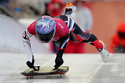 Canada's Mirela Rahneva during Womens Skeleton practice on day three of the PyeongChang 2018 Winter Olympic Games in South Korea.