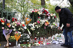 People pay tribute to victims of a terror attack in Place de La Republique in Paris, France, on November 13, 2016, marking the one year anniversary of a series of deadly attacks. Some 130 were killed, 90 of them at Bataclan, when Islamic militants went of the rampage in the heart of the French capital. Photo by Somer/ABACAPRESS.COM