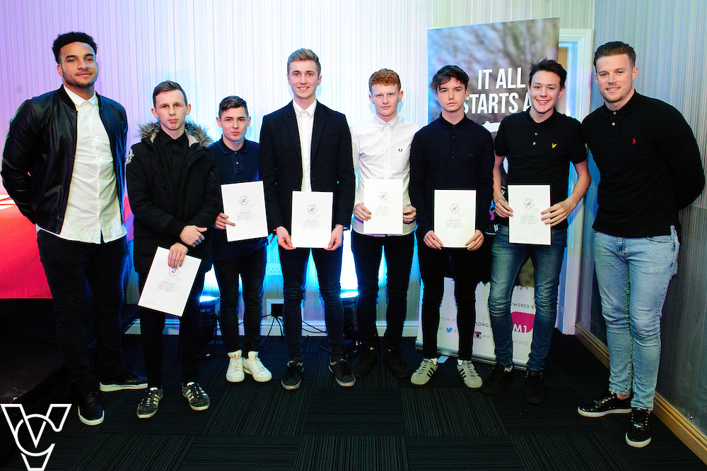 Lincoln City FC's Sport and Education Trust NCS EM1 Graduation held at The Showroom, Tritton Road, Lincoln.  Special guests for the event were Lincoln City's Paul Farman and Chris Bush.<br /> <br /> Picture: Chris Vaughan/Chris Vaughan Photography<br /> Date: February 2, 2016