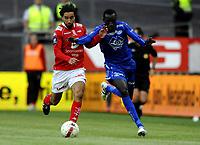 Fotball<br /> 28. Mai 2009<br /> Tippeligaen<br /> Brann stadion<br /> Brann - Molde 2 - 0<br /> Hassan El Fakiri , Brann<br /> Papa Pate Diouf , Molde<br /> Foto : Astrid M. Nordhaug