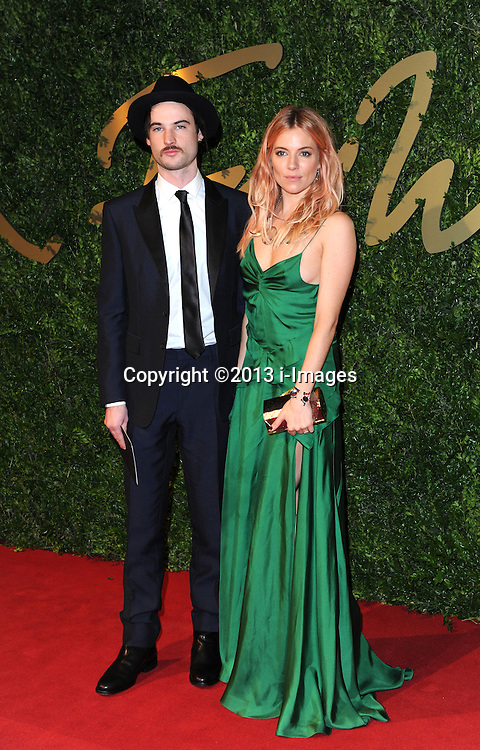 Sienna Miller arriving at the British Fashion Awards in London, Monday, 2nd December 2013. Picture by i-Images<br />