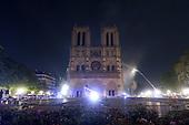 Fire at Notre Dame, Paris, France