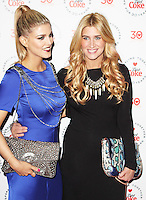 LONDON - January 30: Ashley James & Francesca Hull at the Diet Coke 30 Years Private Party (Photo by Brett D. Cove)