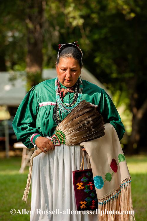 Lady dancer, Murrow Powwow, Caddo Nation, Indians, Native Americans, Binger, Oklahoma