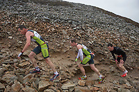 07/11/2015 repro free :  First up the mountain Dessie Duffy, Cavan, Killian Heery, Cavan, Shaun Stewart, Donegal in the Westport Sea2Summit adventure race  Photo:Andrew Downes, xposure