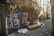 Paris Mural arts in Canal saint martin area / art mural.