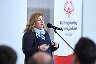 Joanna Styczen General Director of Special Olympics Poland speaks during 30 years anniversary of The Special Olympics Poland at Presidential Palace in Warsaw on March 18, 2015.<br /> <br /> Poland, Warsaw, March 18, 2015<br /> <br /> For editorial use only. Any commercial or promotional use requires permission.<br /> <br /> Mandatory credit:<br /> Photo by © Adam Nurkiewicz / Mediasport