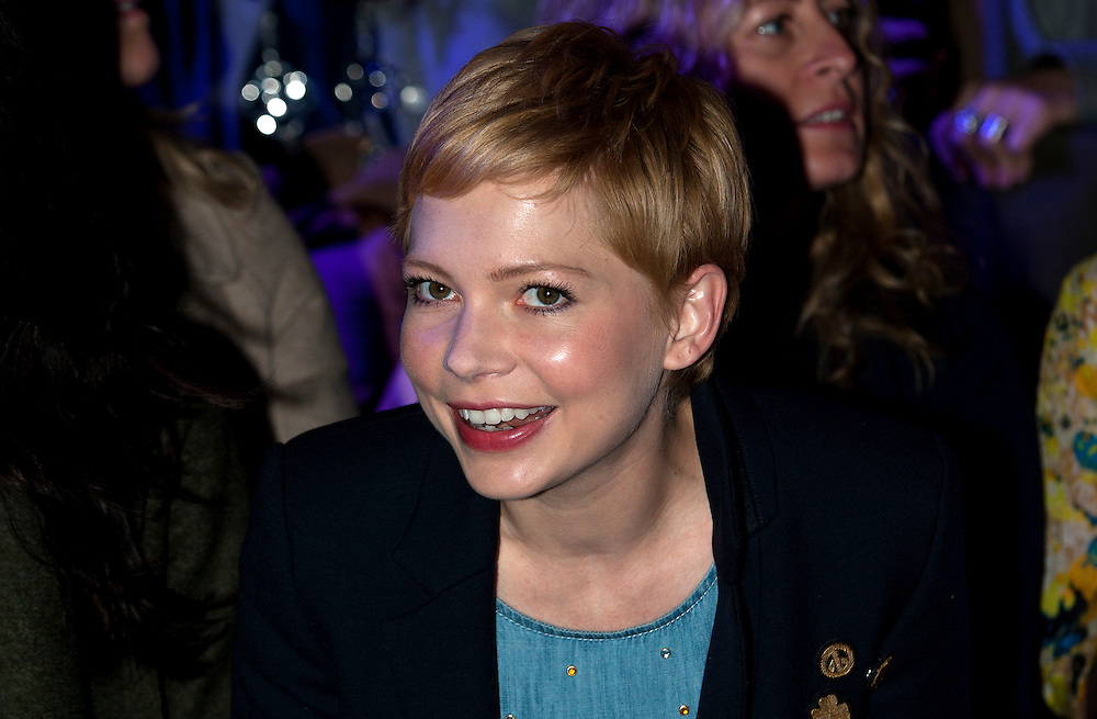 Michelle Williams front row at Mulberry  catwalk show at London Fashion Week on 19/02/12.photo Ki Price