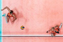 28-05-2019 NED: Volleyball Nations League Netherlands - Brazil, Apeldoorn<br /> <br /> Juliët Lohuis #7 of Netherlands, Laura Dijkema #14 of Netherlands